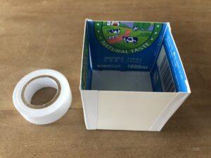 子どもの片づけ 牛乳パックのボックスで整理収納してみよう