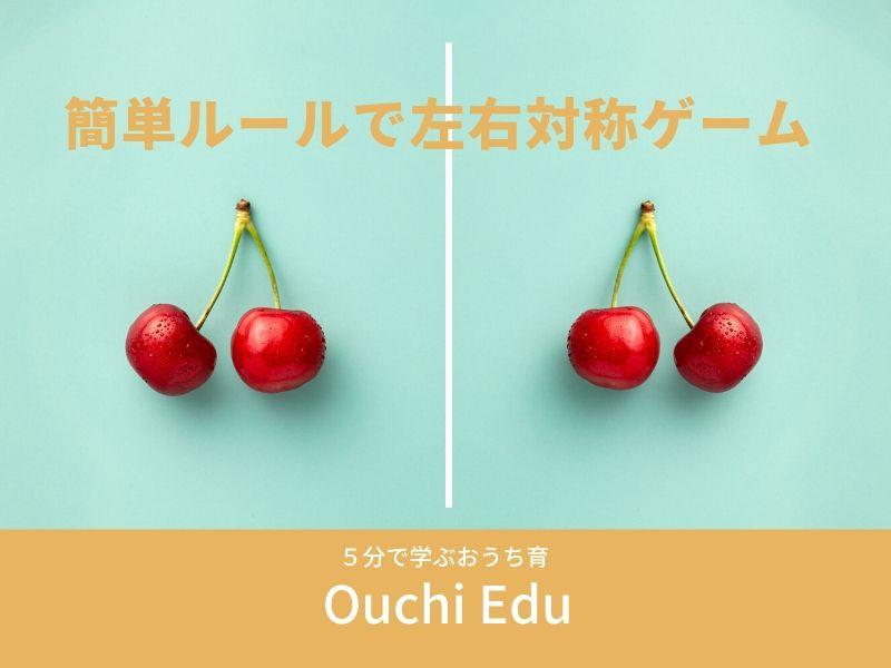 左右対称を学べる知育あそび