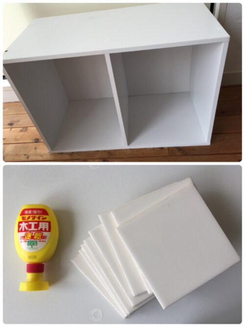 カラーボックスでままごとキッチン