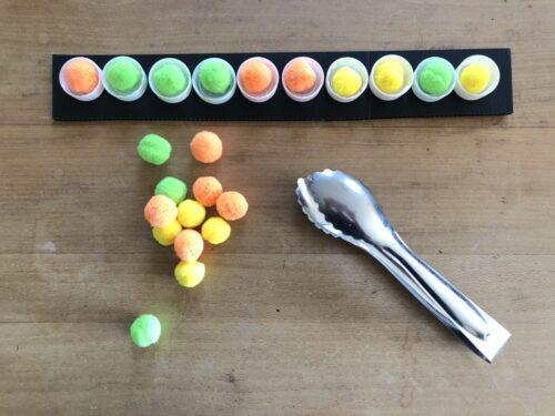 ペットボトルキャップで作る算数教具