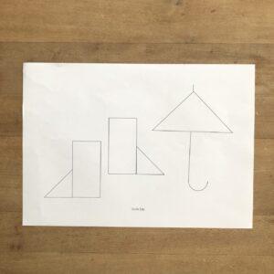 おりがみで知育工作 貼り絵遊びで形を学ぶ