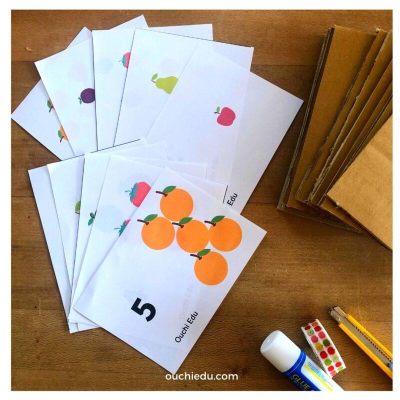 【幼児のための知育教材】はらぺこあおむしフルーツカード 1~5までの数の知育遊びに
