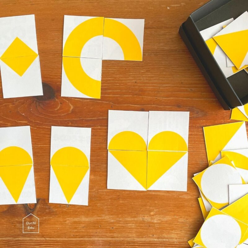 【無料ダウンロード】手作りカードで自由に模様を作ろう!図形センスと創造力を高める知育遊びに