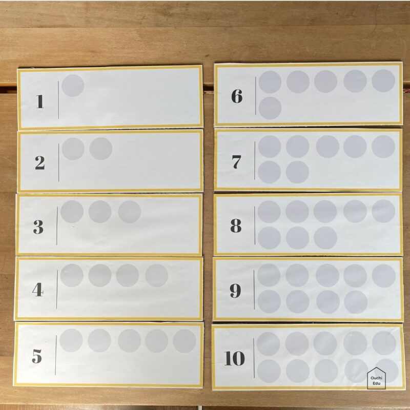 【無料ダウンロード】ペットボトルのキャップで知育遊び 並べて学べる1〜10までの数シート