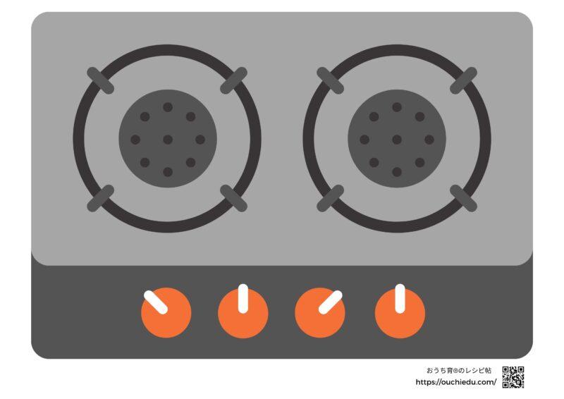 【無料ダウンロード】貼るだけ簡単ままごとコンロと リメイクシートと排水溝カバーで作るダンボールコンロ